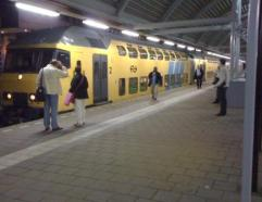 Changing trains in Amsfort on way to Schiphol