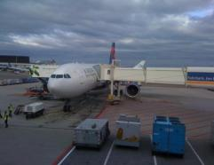 Boarding Delta A333 AMS to MSP then on to DEN