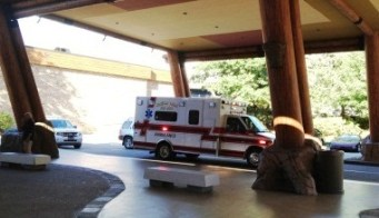 Ambulance waiting at casino