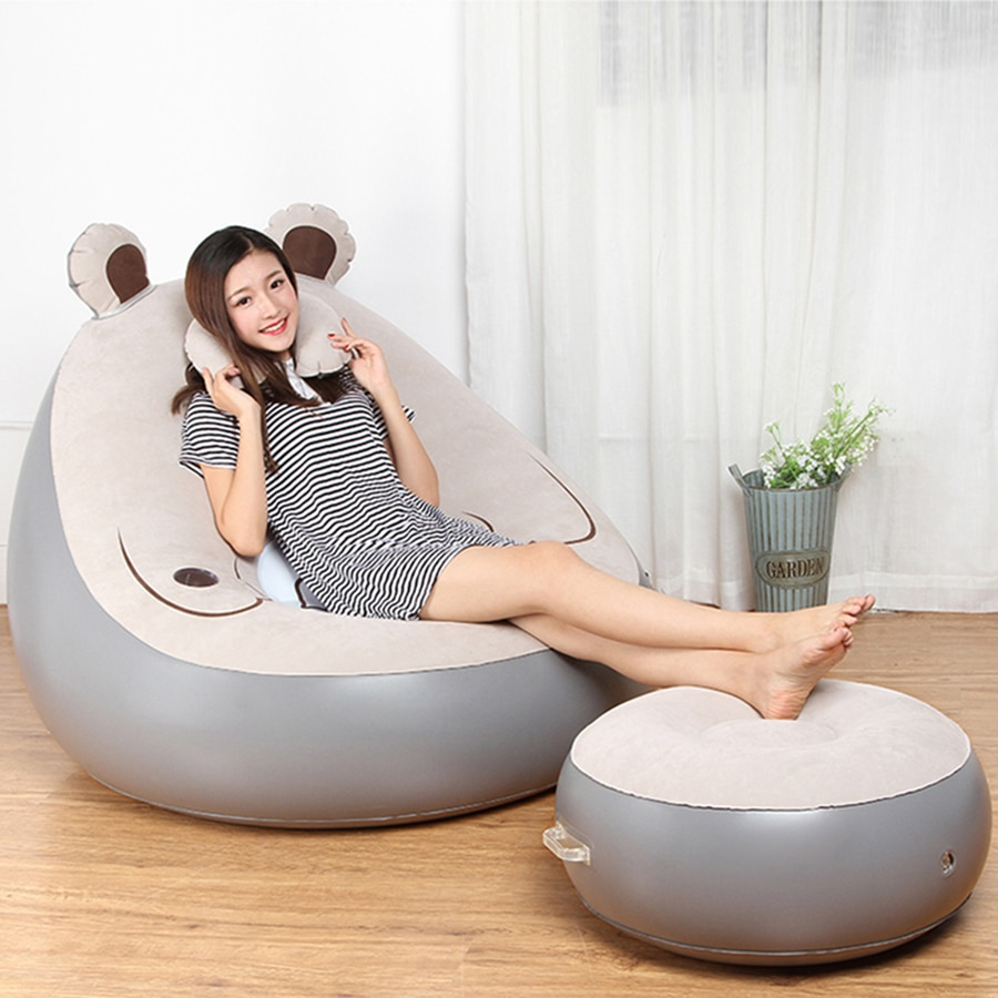 Inflatable Chair Beanbag Sofa Cushion For Adults Seat Chair With - Inflatable Chair Sofa