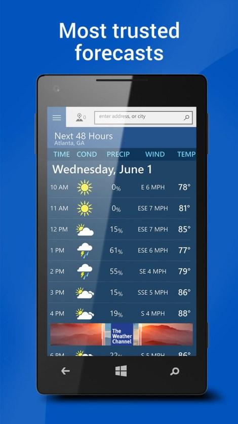 weather channel app windows 10 download