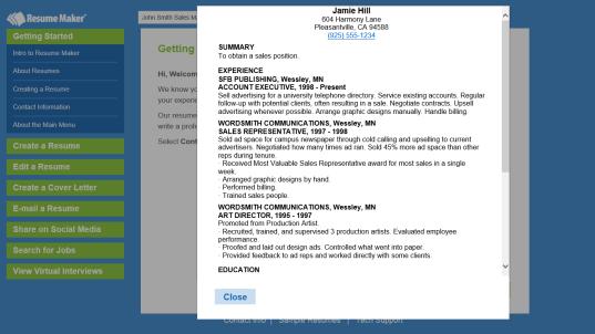 resume builder free download windows 10