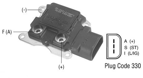 Ford 2g Alternator Wiring F784 Voltage Regulator 12 Volt A Circuit I S A