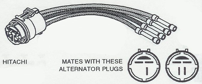 hitachi alternator wiring plug