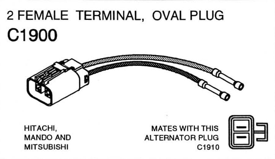 Mitsubishi 1273116c91 Alternator Wiring Diagram - wiring diagrams