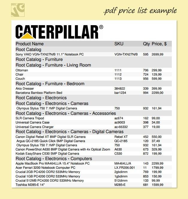 Sample Price Sheet Price List Template Sample Price List Archives - price list sample
