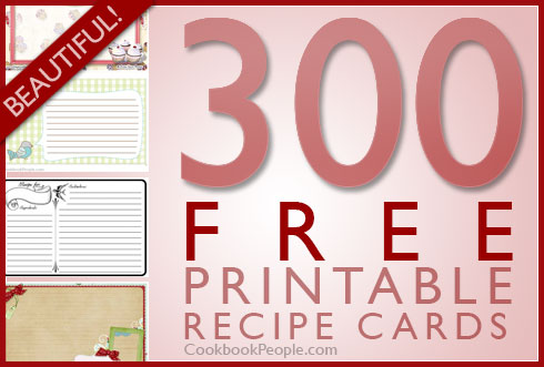 cookbook recipe cards - Selol-ink