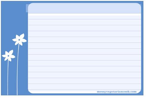 300+ Free Printable Recipe Cards - recipe card