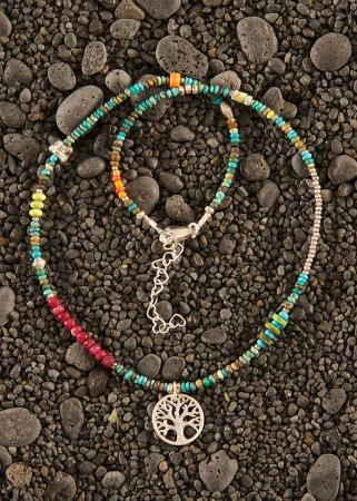 El Mar Tree of Life in silver Necklace