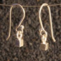 Silver Ice Cube Earrings