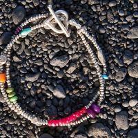 Double heart bracelet as seen in Sundance catalog