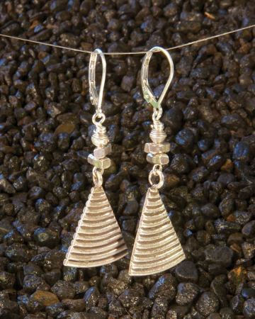 Silver pie Earrings with a side of silver