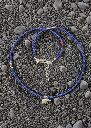 Lapis w/ Elephant Necklace