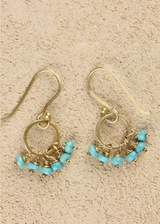 Jill's Earrings in Gold with Turquoise
