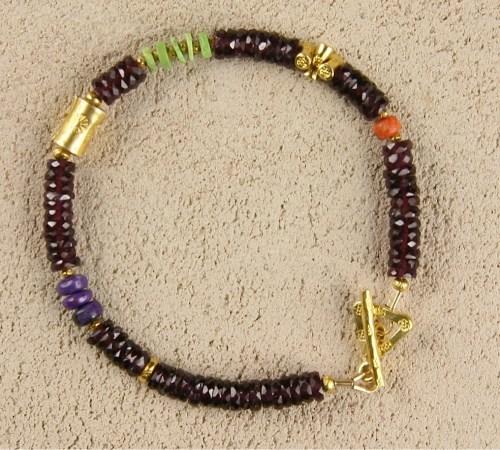 Garnet Heishi Bracelet