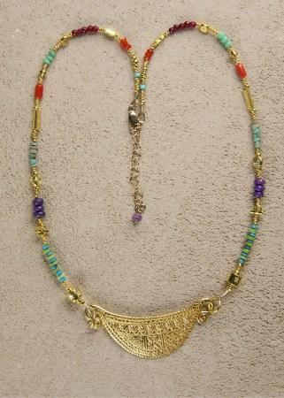 Jill's Spirit Lock in Gold w/ 2000 year old Carnelian