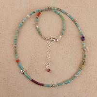 Turquoise Silver El Mar Necklace