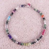 Ruby Zoisite Silver Bracelet