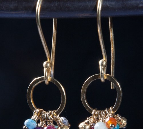 Jill's earrings Multistone Gold