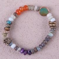 Peruvian Opal stretch bracelet