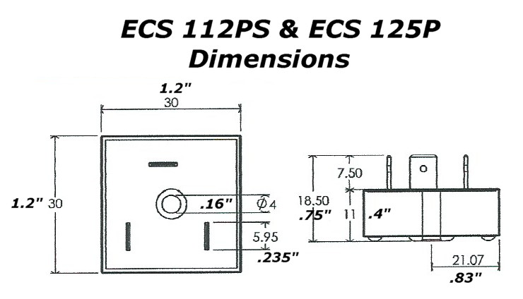 electronic motor start switch ecs112ps