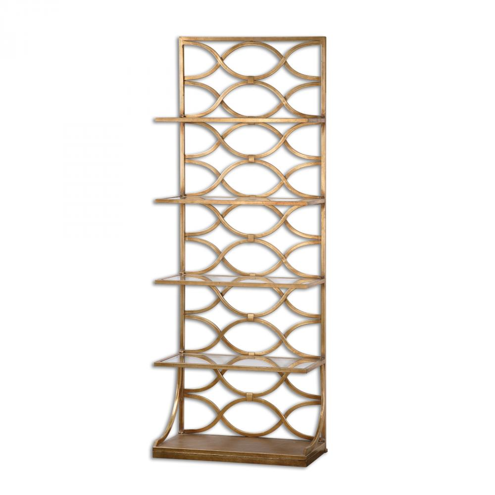 Etagere Groß Uttermost Lashaya Gold Etagere 24447 Gross Electric
