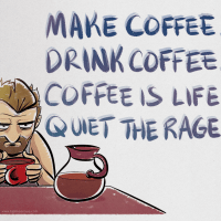 Coffee Is Life Print  The HijiNKS ENSUE Store