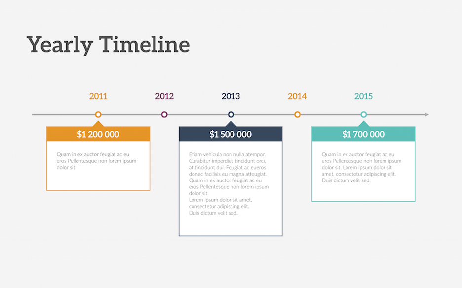 Timeline Keynote Template Improve Presentation - timeline template
