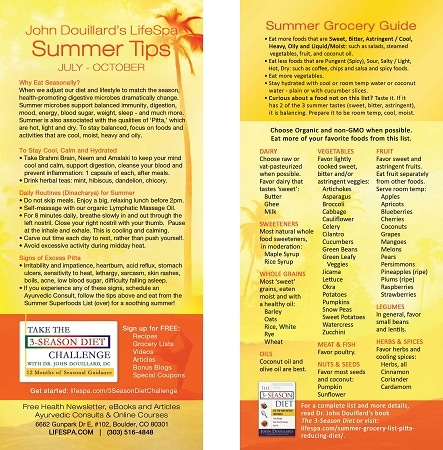 Summer Grocery List John Douillard\u0027s LifeSpa