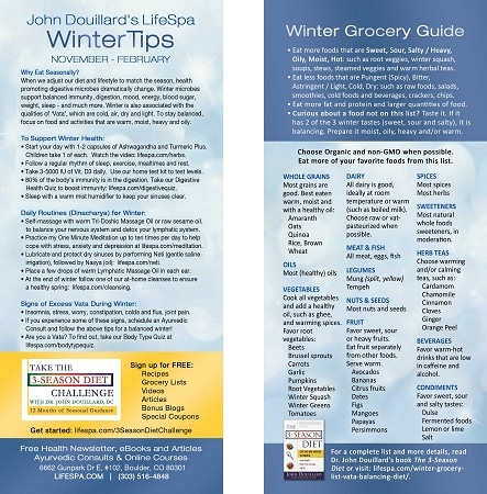 Winter Grocery List John Douillard\u0027s LifeSpa