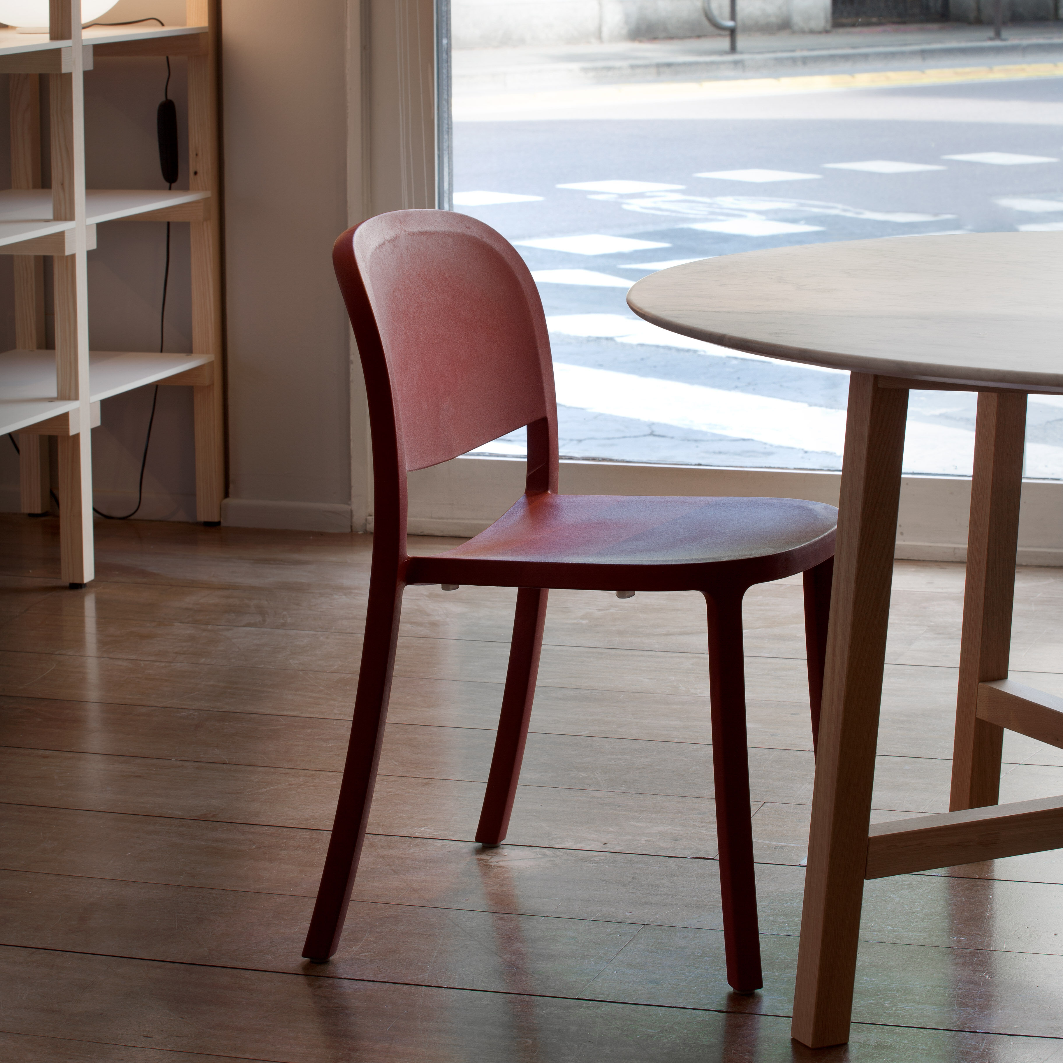 Muji Bordeaux Emeco 1 Inch Reclaimed Stacking Chair