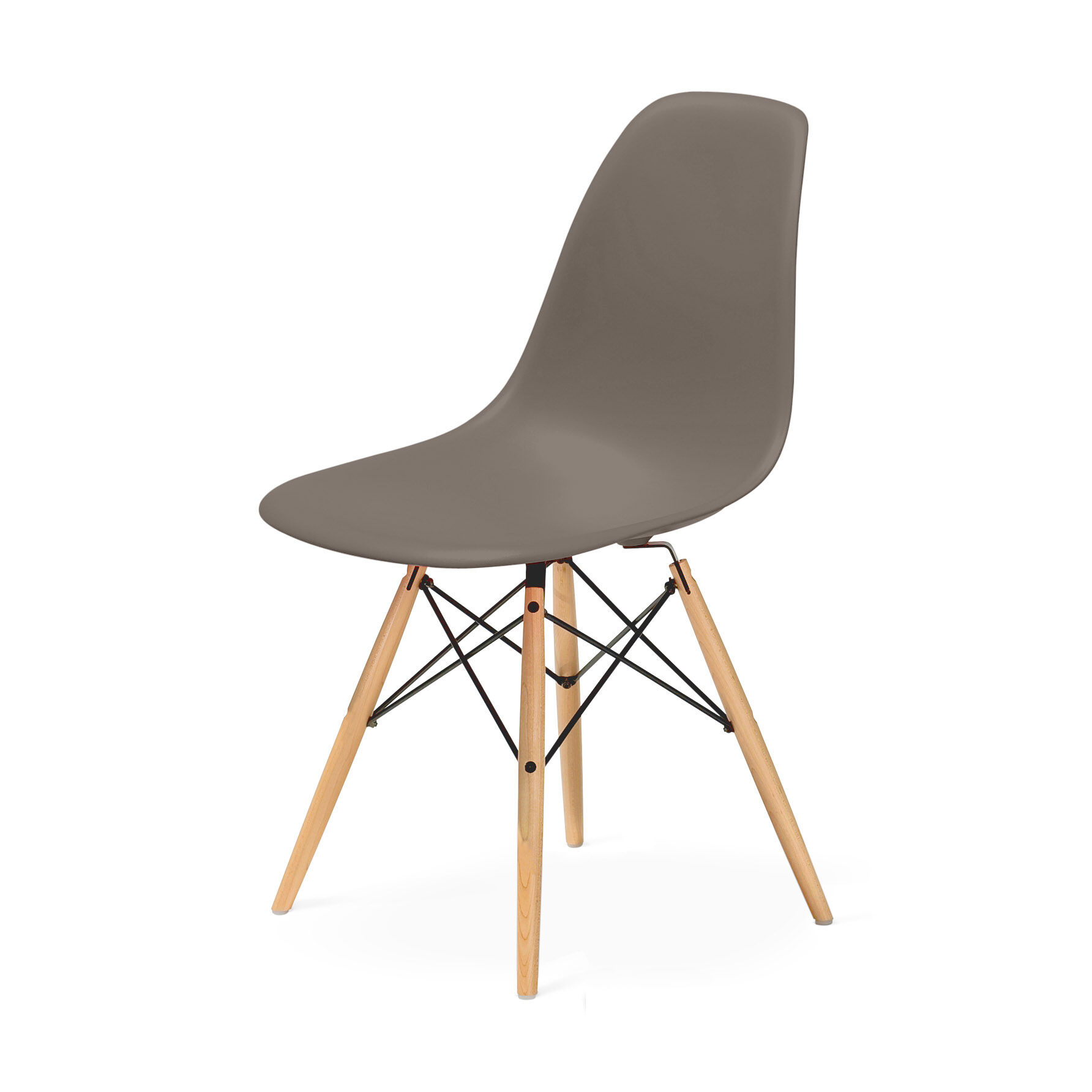 Eames Dsw Eames Molded Plastic Side Chair With Dowel Leg Base Dsw