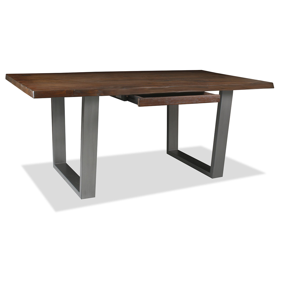 Rhode Live Edge Hardwood And Wrought Iron Desk