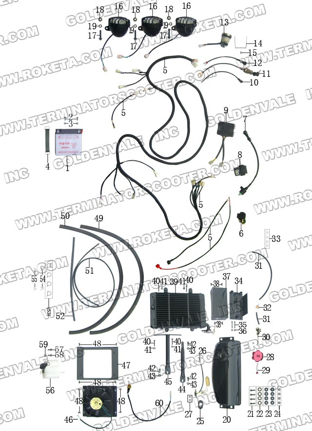 chinese baja 150 atv wiring diagrams