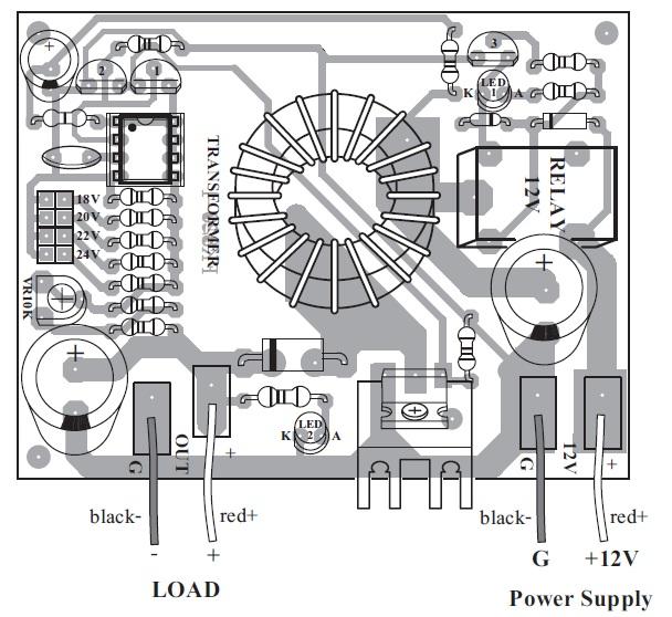 12v 10a power supply circuit diagram