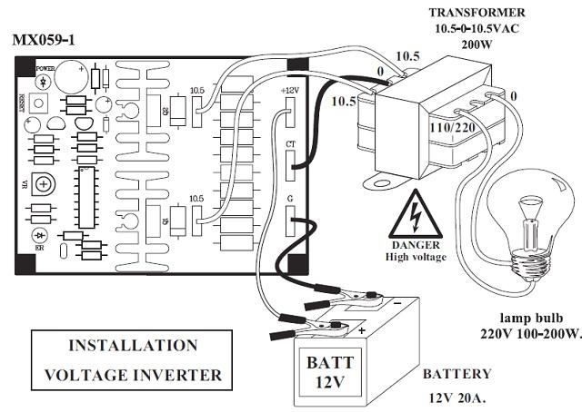 qkits electronic kits mxa059 voltage inverter 12vdc to 110 220vac