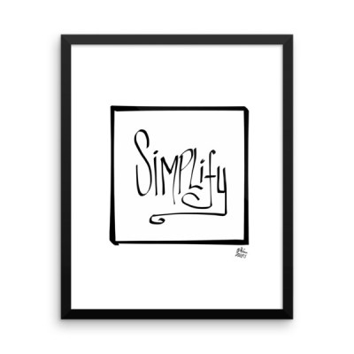 SIMPLIFY – Framed photo paper poster