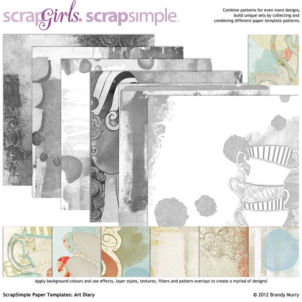 ScrapSimple Paper Templates Art Diary - diary paper template