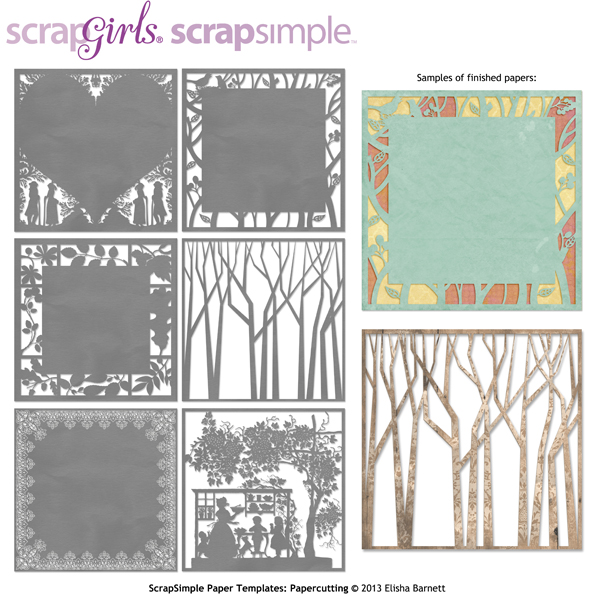 ScrapSimple Paper Templates Papercutting