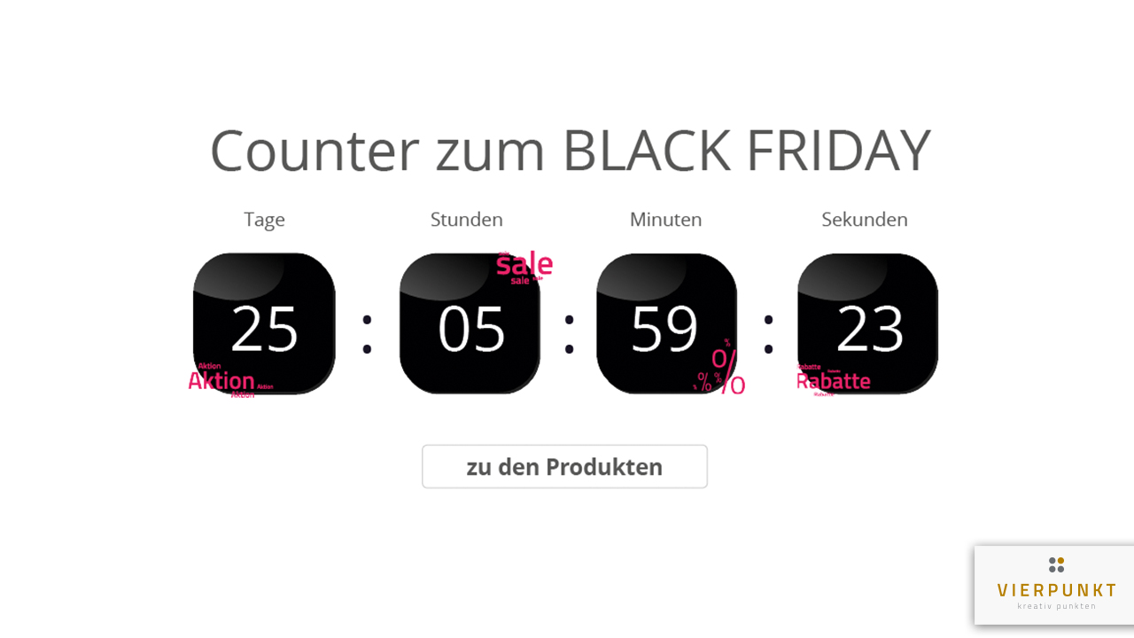 Rabatte Black Friday Countdown Style Black Friday
