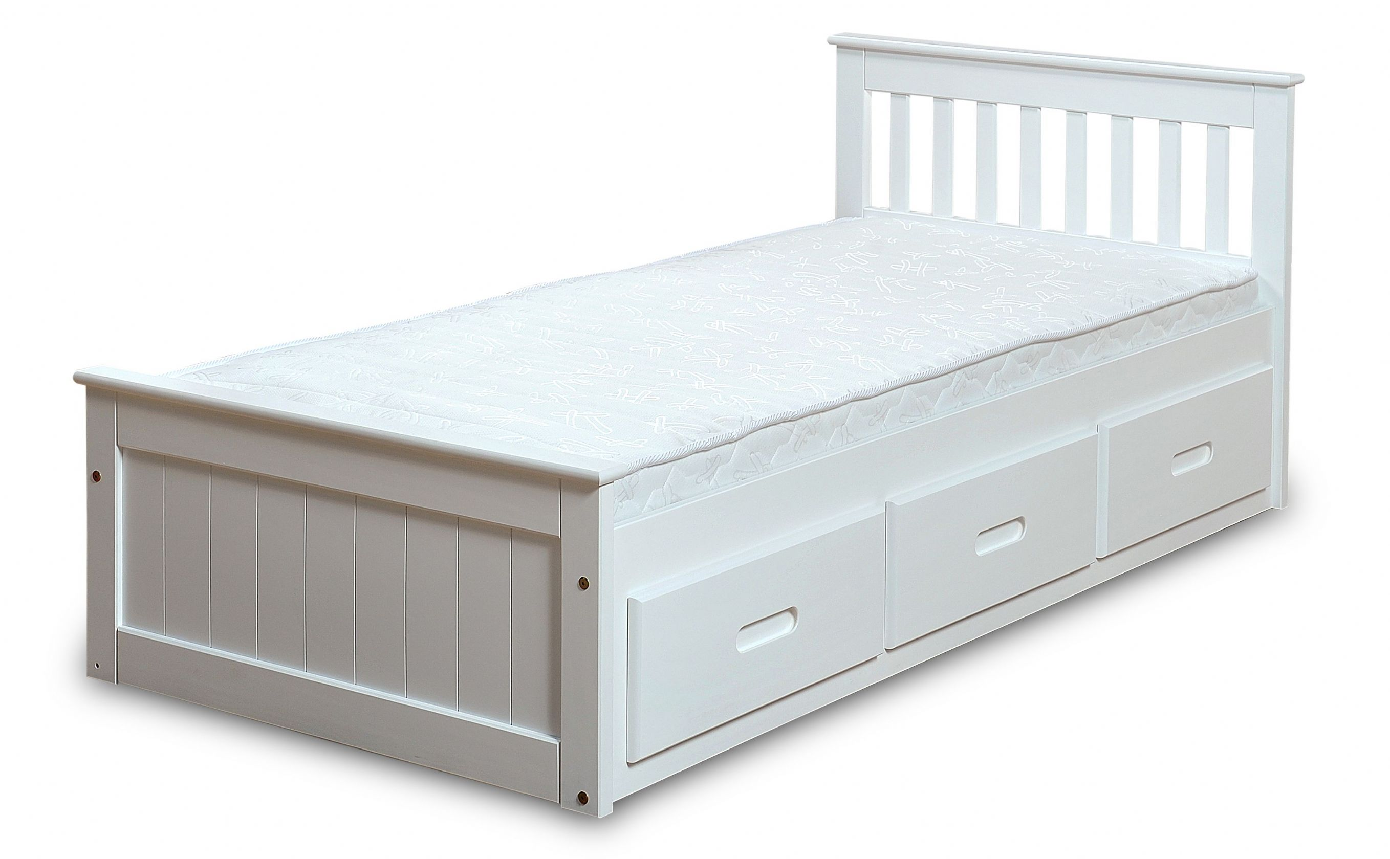Childrens Beds With Storage White Mission Children S 3ft Single Wooden Bed With 3