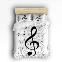 music note bedding set | The Gilded Piano Store