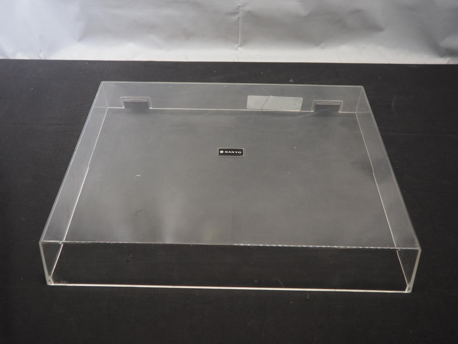 Vintage Sanyo Tpxis Dust Cover For Turntable Record Player