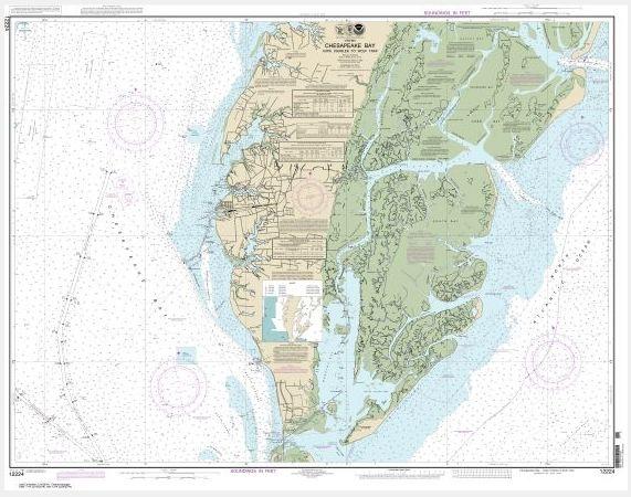 Chesapeake Bay Cape Charles to Wolf Trap (chart 12224) - NOAA Charts