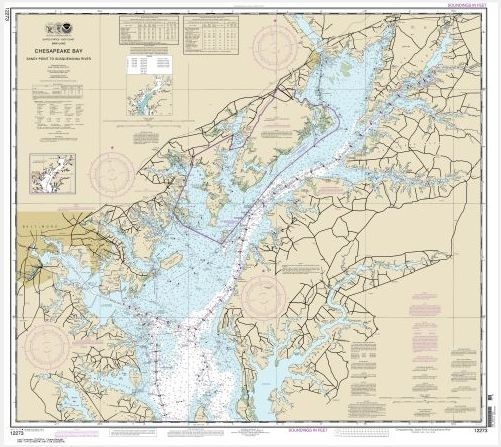 Chesapeake Bay Sandy Point to Susquehanna River (chart 12273) - NOAA