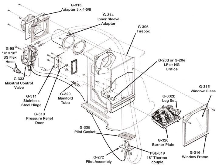 franklin stove diagram