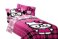 Sanrio Hello Kitty Bed Sheet Set - I Heart Nerds Pink ...