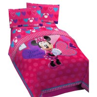 Minnie Mouse Hearts Bow-tique Twin Comforter - Disney Love ...