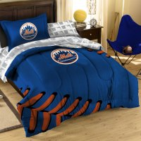 7pc NEW YORK METS FULL BEDDING SET - MLB NY Baseball ...