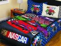 Nascar Comforter Set - 3pc Race Car Bedding Twin-Full Bed